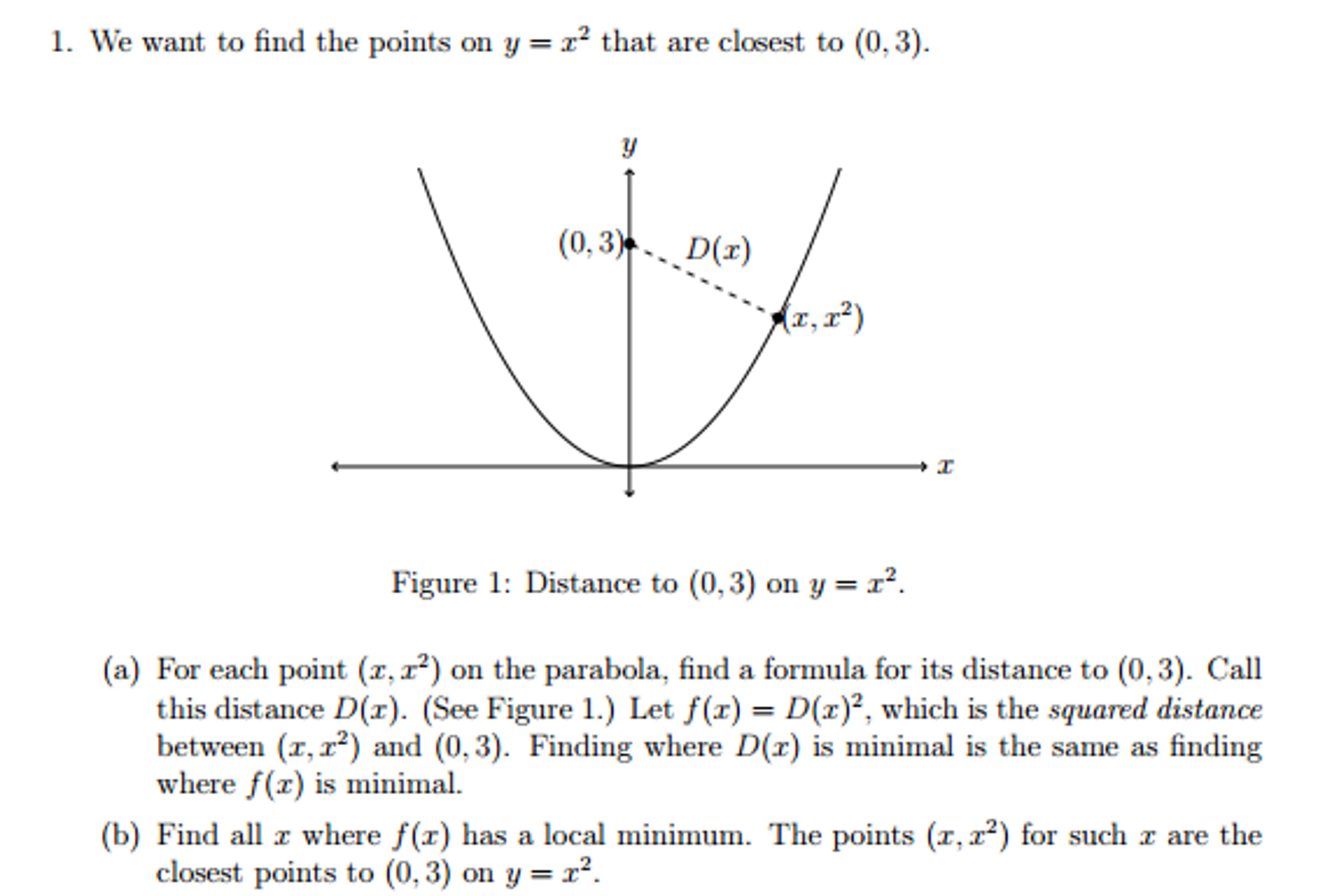 solved we want to find the points on y x 2 that are clo