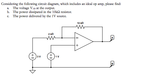 Solved  Considering The Following Circuit Diagram  Which I