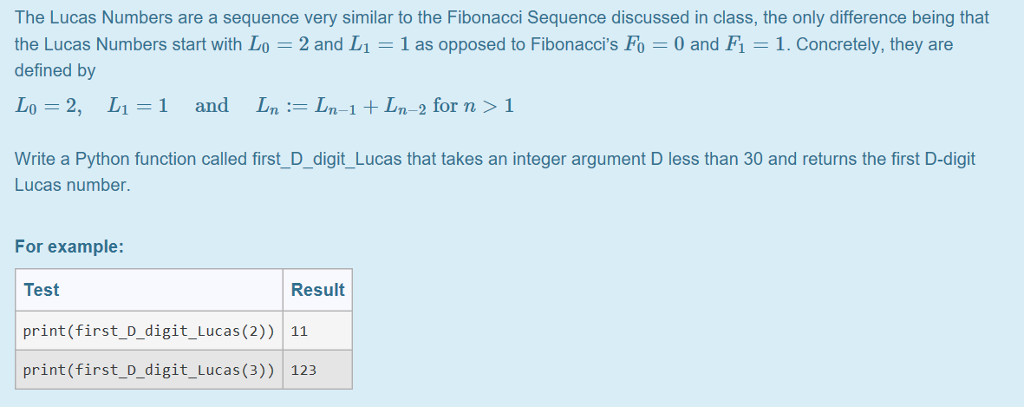 The lucas numbers are a sequence very similar to t chegg sciox Images