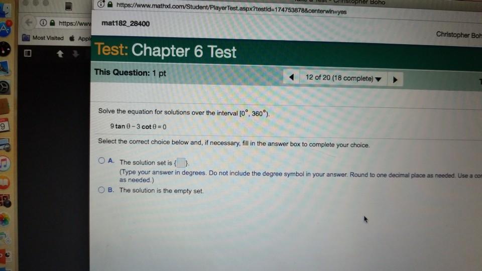 Solved: Stopher Boho Https://www.math Spx?testld-174753878 ...