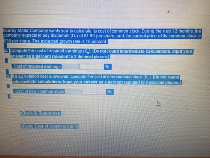 Murray Motor Company Wants You To Calculate Its Co  Cheggcom