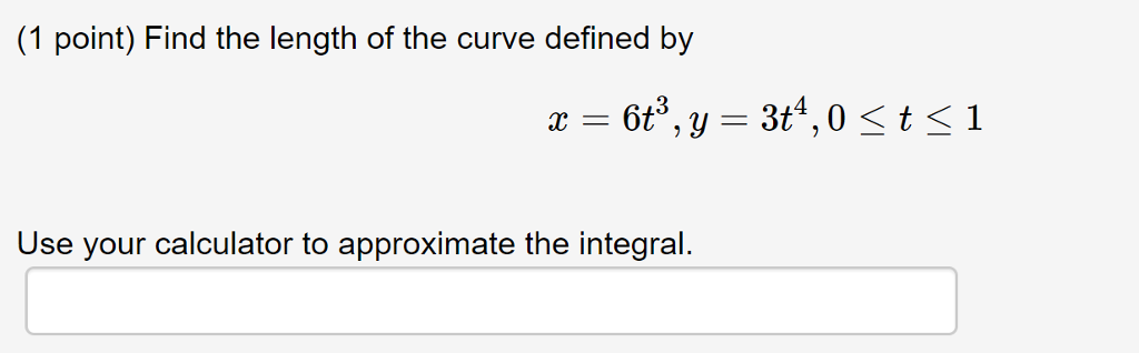 Solved: find the length of the curve x = 4 t, y = 5t 1.