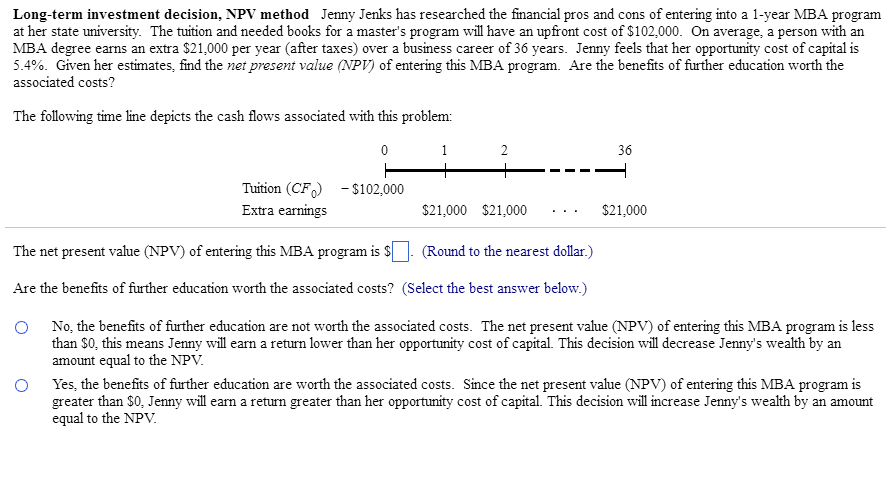 advantages of net present value method