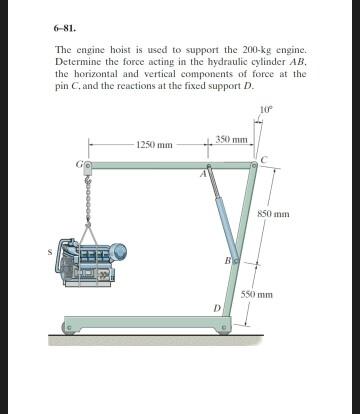 solved the engine hoist is used to support the 200 kg eng. Black Bedroom Furniture Sets. Home Design Ideas