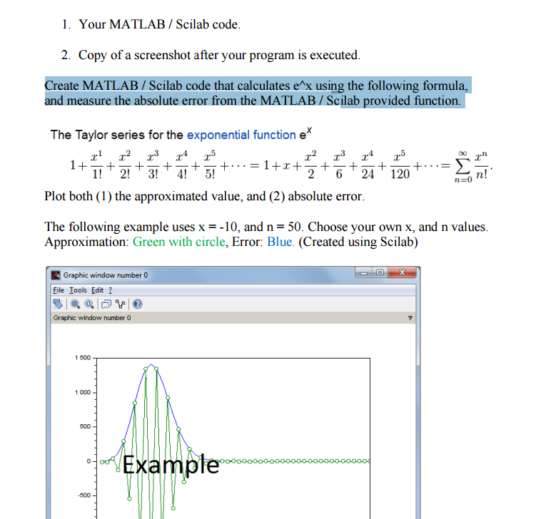 Solved: Your MATLAB/Scilab Code  Copy Of A Screenshot Afte