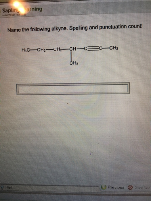 9.2: Naming Alkynes - Chemistry LibreTexts