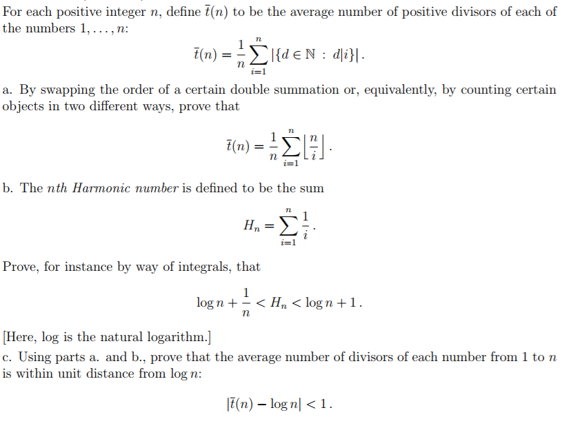 Solved: For Each Positive Integer N, Define T(n) To Be The
