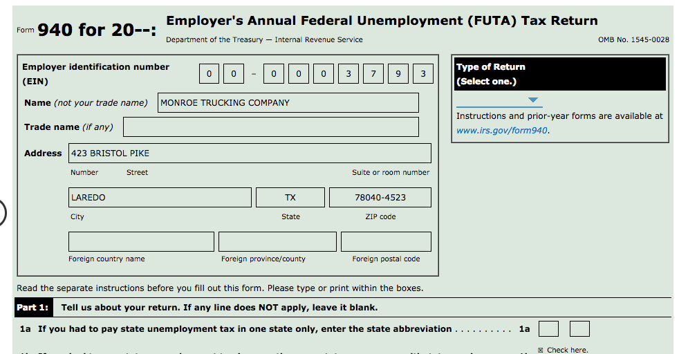 Employer\'s Annual Federal Unemployment (FUTA) Tax ... | Chegg.com