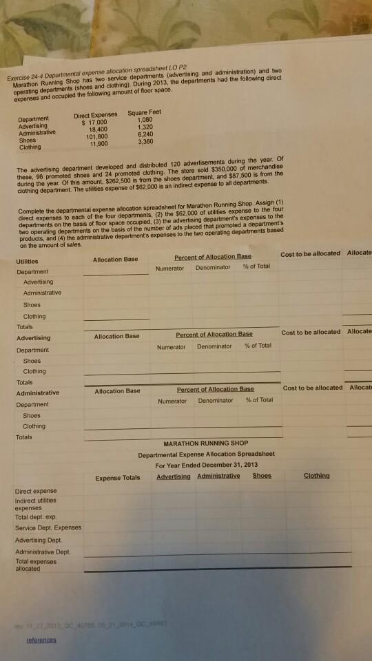Spreadsheet homework help