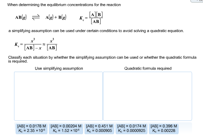Solved: When Determining The Equilibrium Concentrations Fo
