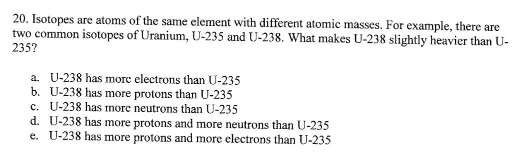 2bee8f17acb Isotopes are atoms of the same element with different atomic masses. For  example