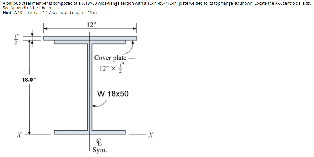 Solved: A Built-up Steel Member Is Composed Of A W18x50 Wi ...
