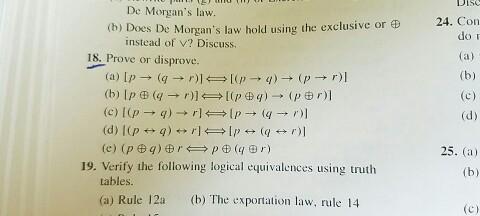 Solved: Discrete Mathematics Question 18 | Chegg com