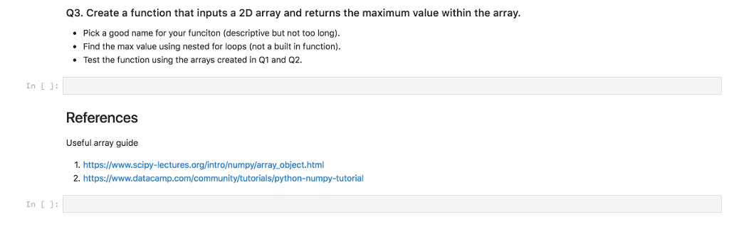 Solved: Q3  Create A Function That Inputs A 2D Array And R