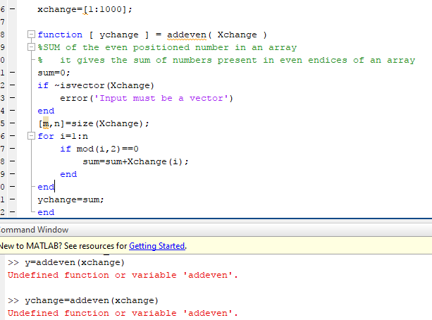 Write A Matlab Script And Save It As Assignment030