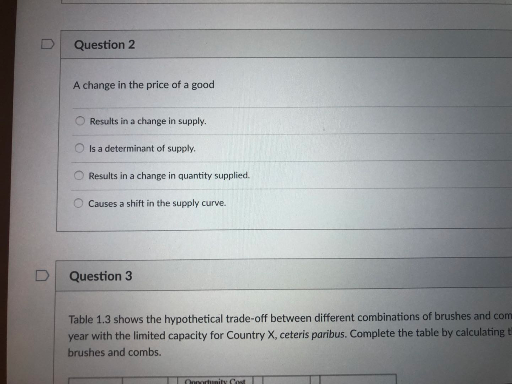 what causes change in quantity supplied