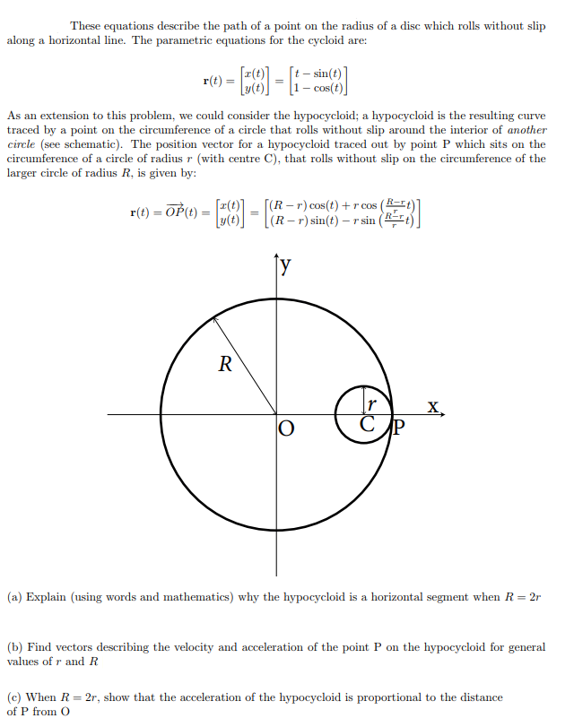 Solved: These Equations Describe The Path Of A Point On Th