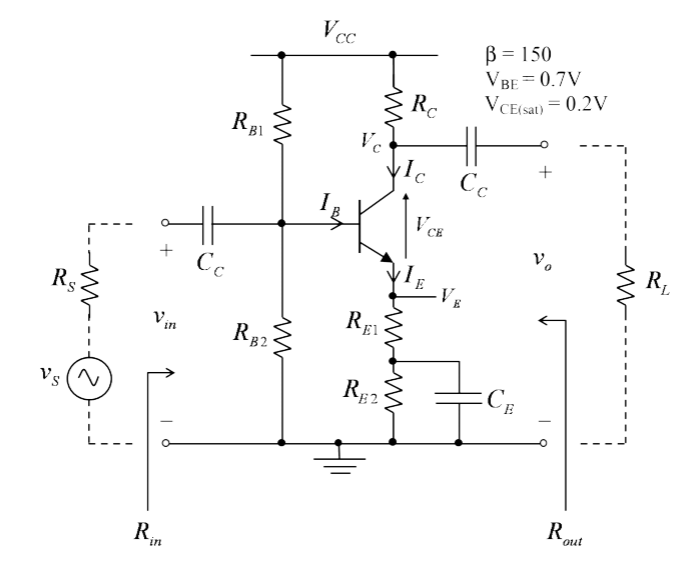 Solved: Hand Calculations For The Transistor Amplifier Sho