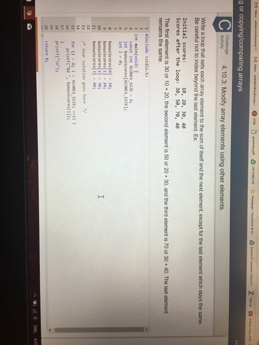 Beaches] Matlab for loop index array