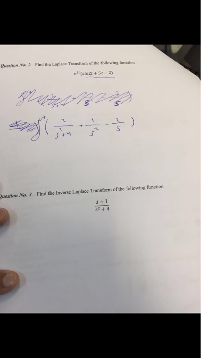 Solved: Find The Laplace Transform Of The Following Functi ...
