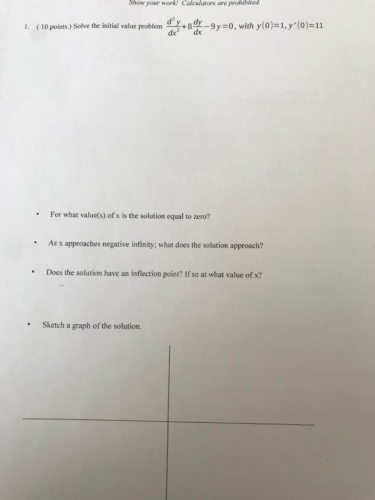 solve the initial value problem calculator