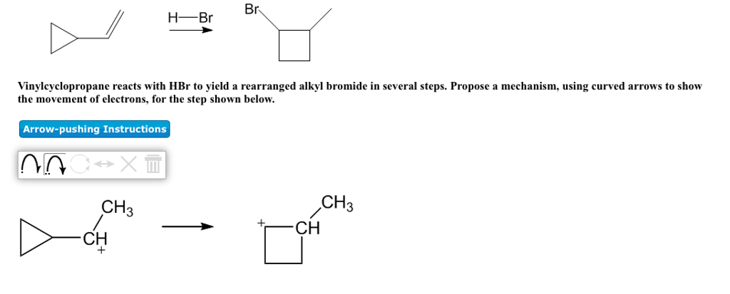 Solved Vinylcyclopropane Reacts With Hbr To Yield A Rearr