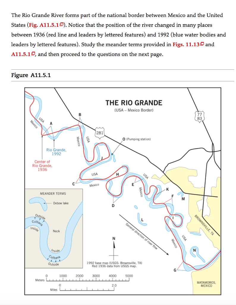 Solved: The Rio Grande River Forms Part Of The National Bo ...