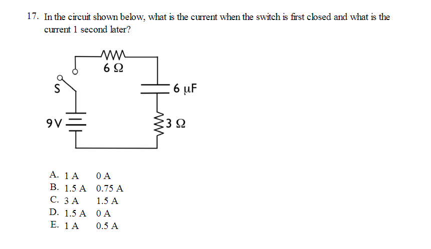 solved 17 in the circuit shown below what is the curren rh chegg com