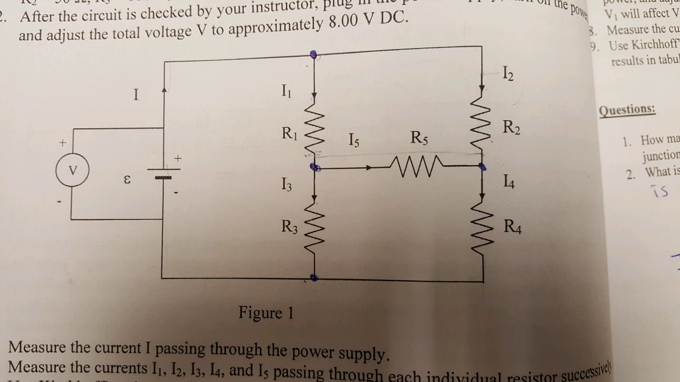 Solved Multiloop Circuits Kirchhoffs Rules Lab Report How Do You Measure Current In A Circuit