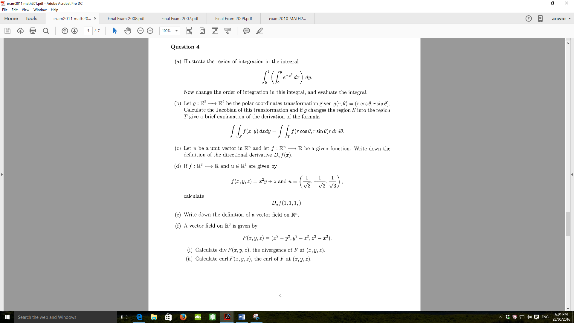 special integral derivation