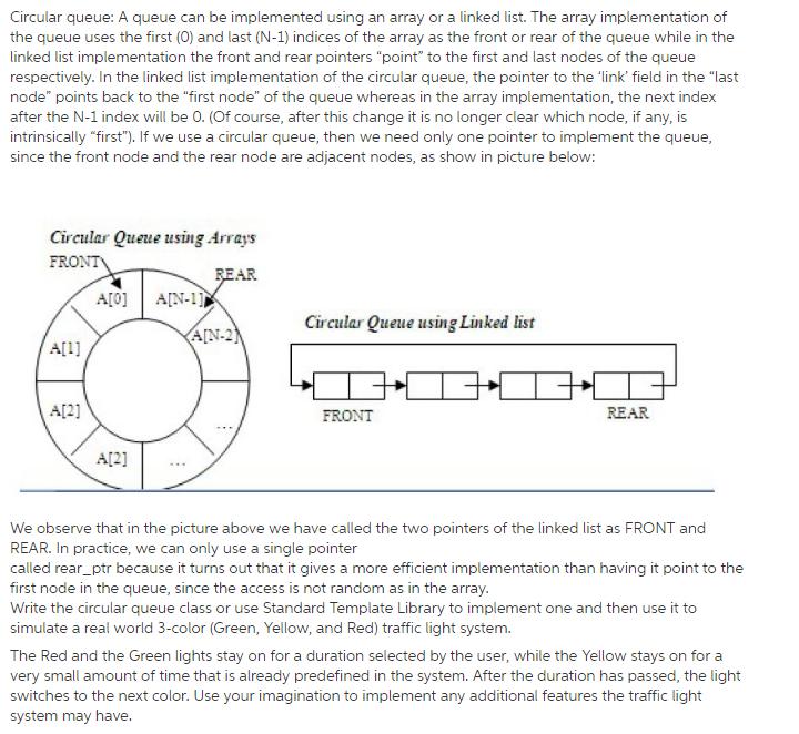 Circular Queue: A Queue Can Be Implemented Using A