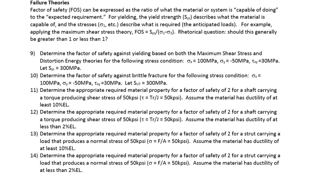 how to find safety factor