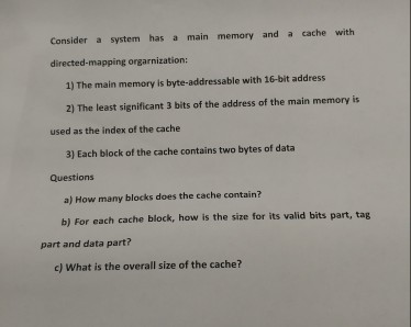 Solved This Is A Question From Computer Organization And Chegg Com