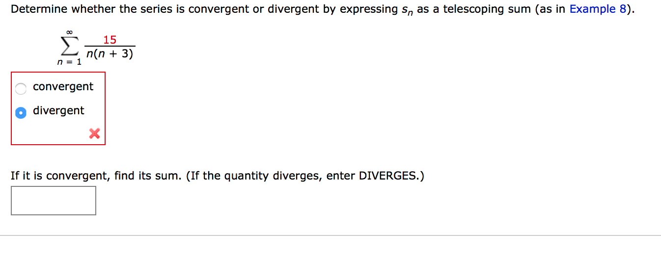 Solved: Determine Whether The Series Is Convergent Or Dive