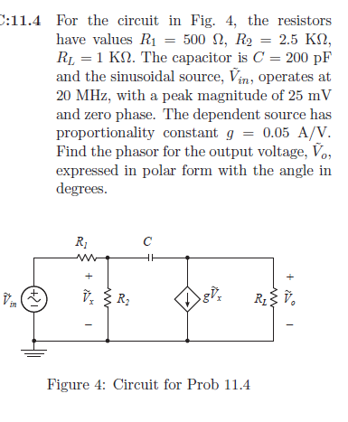 For the circuit in Fig. 4, the resistors have valu