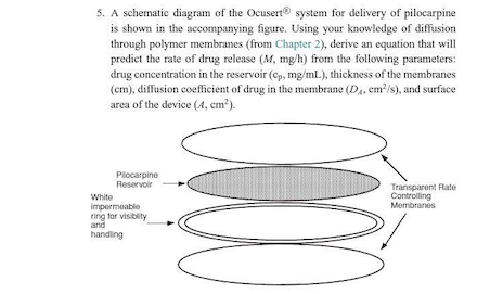Solved: A Schematic Diagram Of The Ocusert System For Deli ...