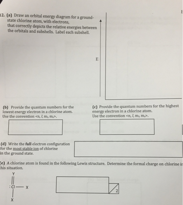 Solved Chemistry Help A Draw An Orbital Energy Diagram
