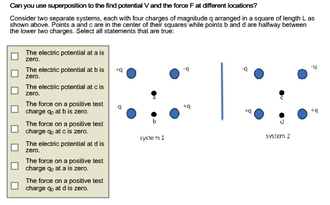 Can you use superposition to the find potential V