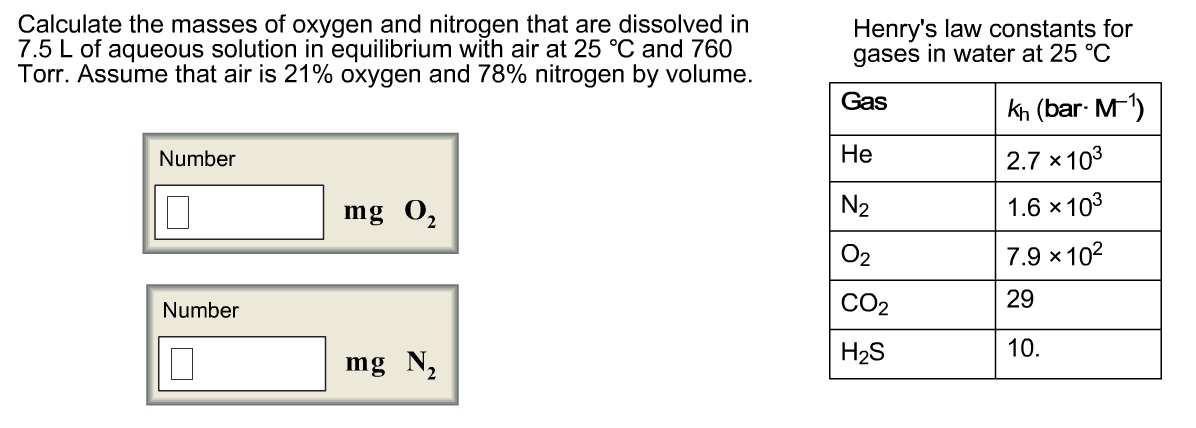 Solved Calculate The Masses Of Oxygen And Nitrogen That A