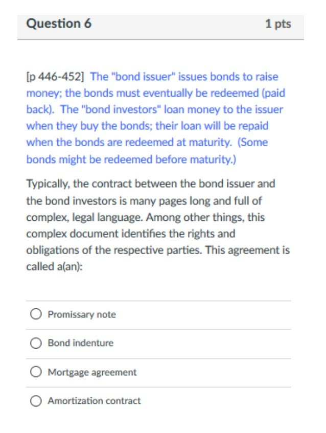Solved Question 6 1 Pts Ip 446 452 The Bond Issuer Iss