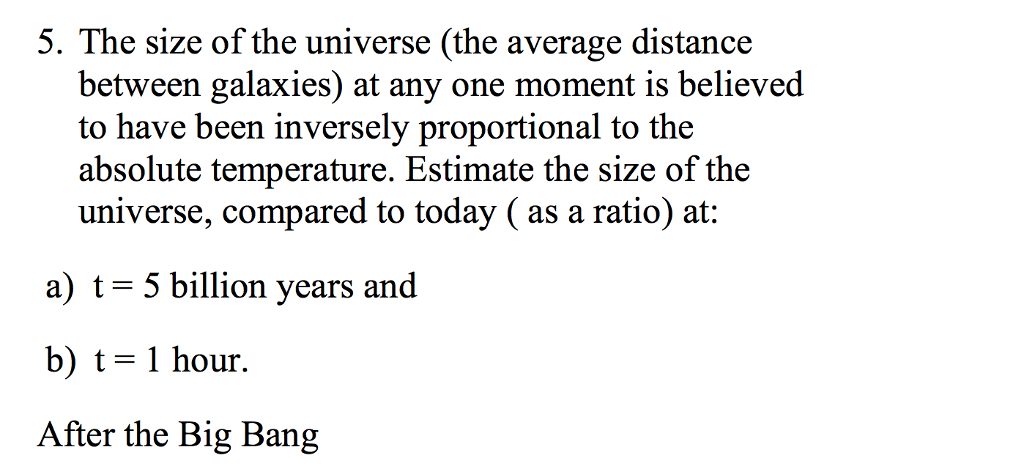 The Size Of The Universe (the Average Distance Bet ...