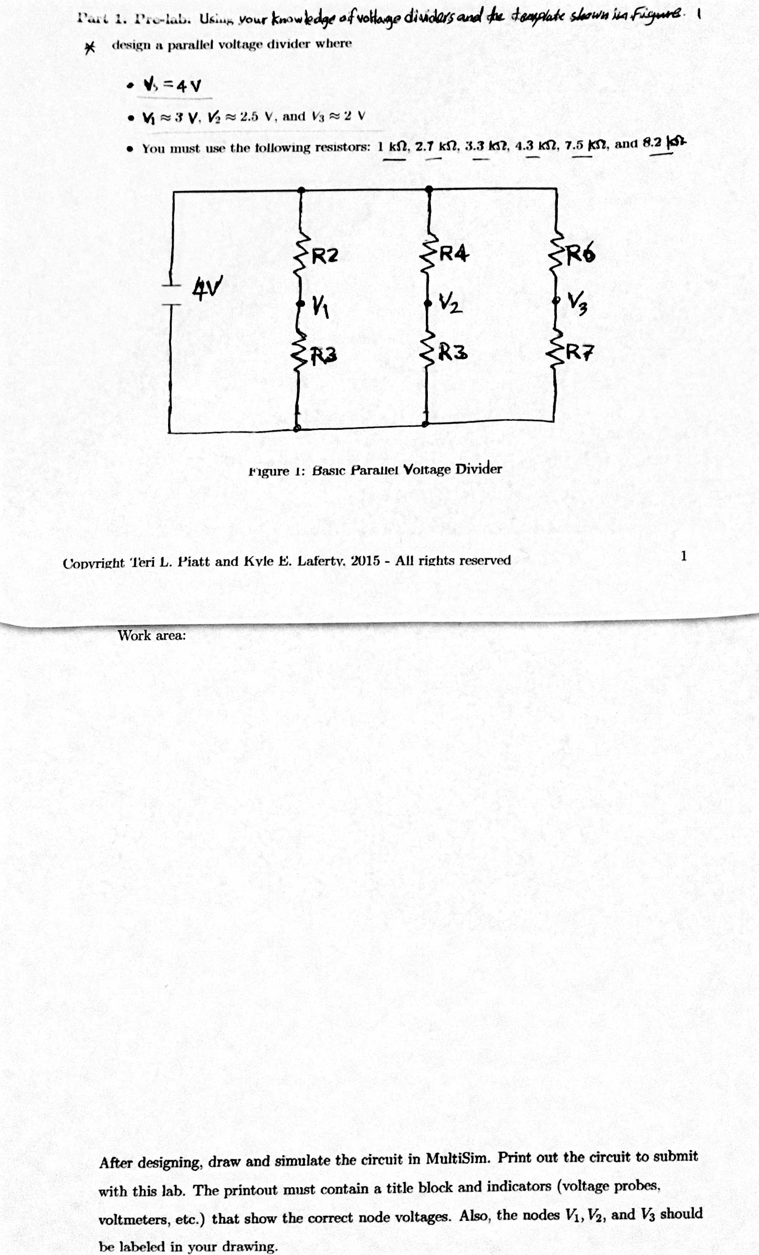 Solved: Using Your Knowledge Of Voltage Dividers And The T ...