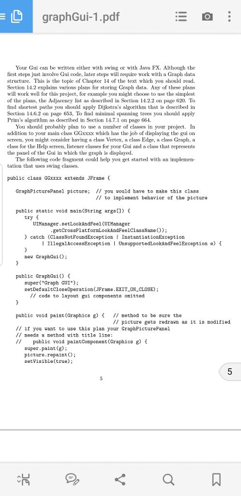 GraphGui-1 pdf Spring 2018 CS313 Project Implement