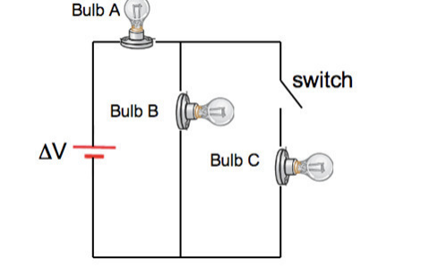 Solved: In The Circuit Below All Three Light Bulbs Have Id ...