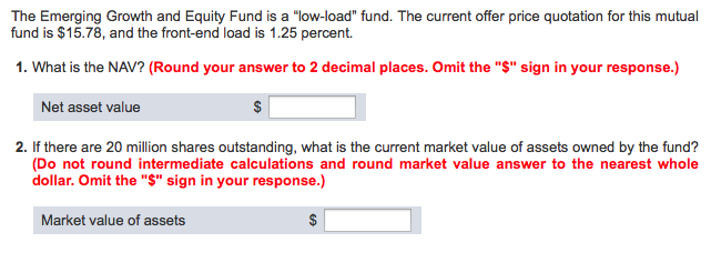 solved the emerging growth and equity fund is a low load