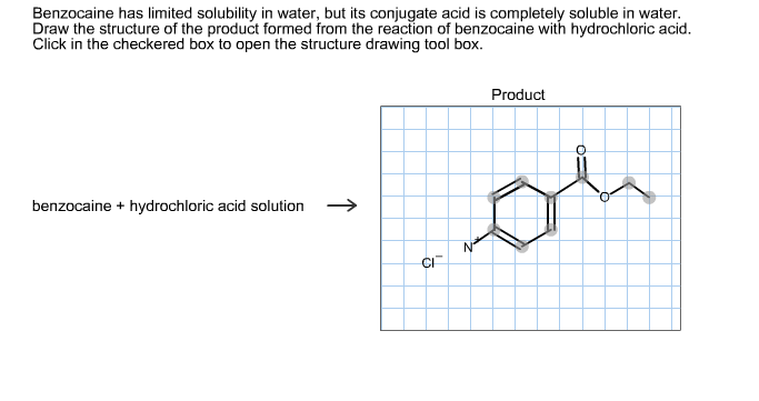 Solved  Benzocaine Has Limited Solubility In Water  But It