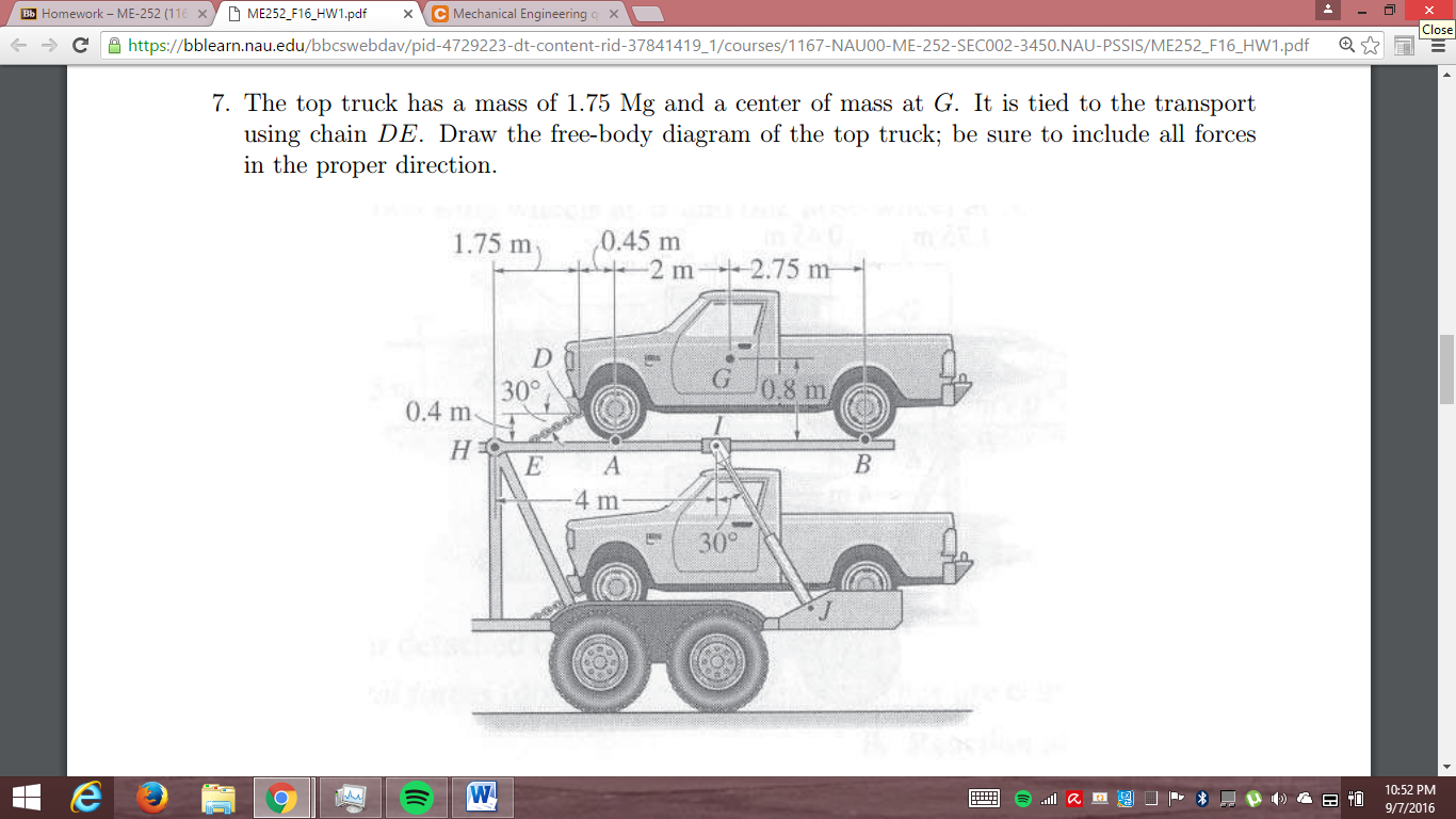 Solved Me252 F16 Hw1pd K Me 252 C Mechanical Engineering