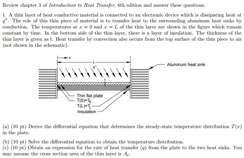 Mechanical engineering archive february 18 2018 chegg review chapter 3 of introduction to heat transfer 6th edition and answer these questions ccuart Image collections