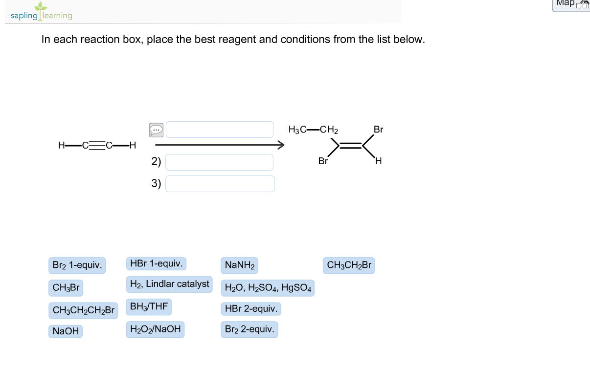 in each reaction box place the best reagent and conditions from the list below oh - photo #38