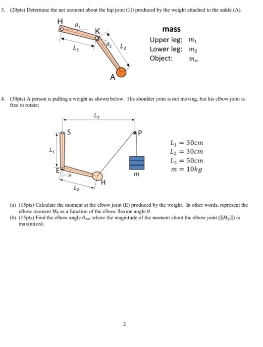 Solved Determine The Net Moment About The Hip Joint H P